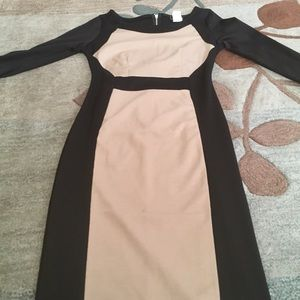 Black and Tan Bodycon Dress